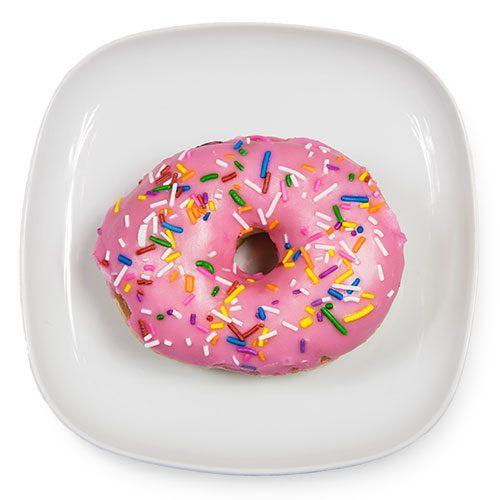 Vanilla Sprinkles doughnut on a plate